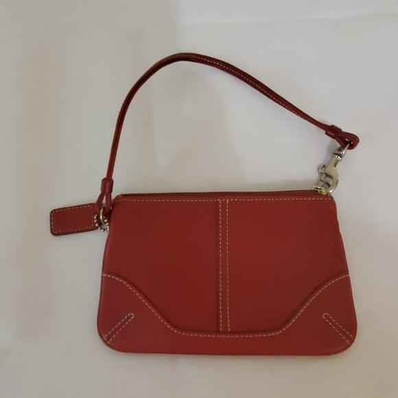 Coach Handbags - Red Leather Small Coach Purse